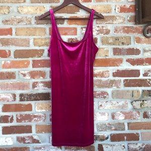 NWT UO Hailey Velvet Square-Neck Mini Dress